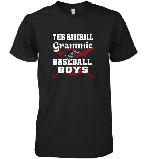 This Baseball Grammie Loves Her Baseball Boys Premium Men's T-Shirt