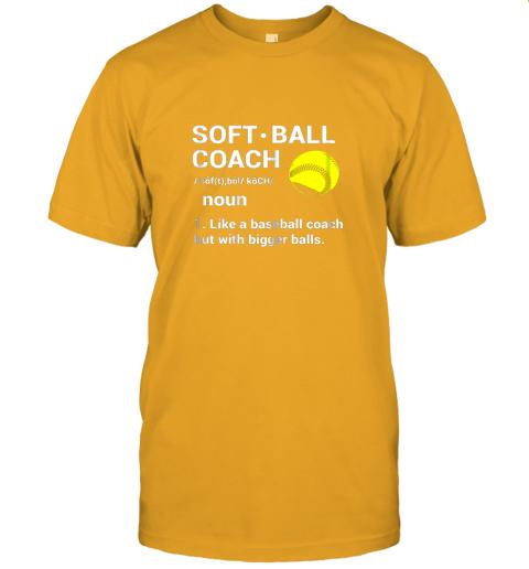 l2tp soft ball coach like baseball bigger balls softball jersey t shirt 60 front gold