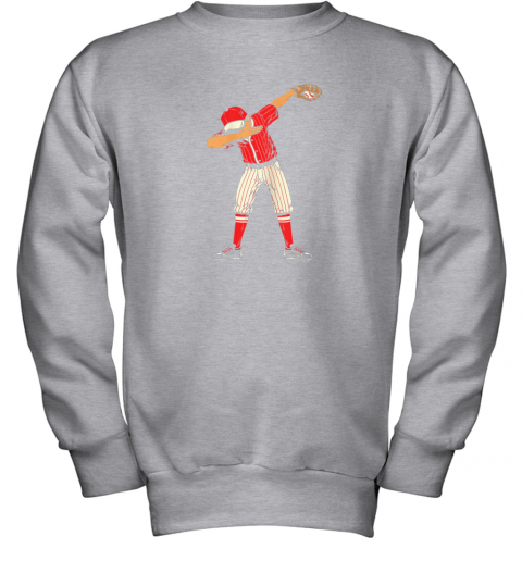pray dabbing baseball catcher gift shirt kids men boys bzr youth sweatshirt 47 front sport grey