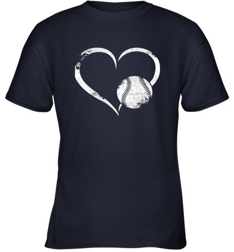 2382 i love baseballl funny baseball lover heartbeat youth t shirt 26 front navy