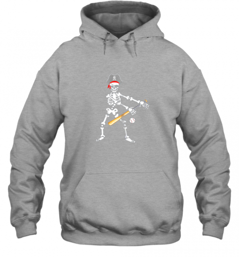 fzo6 skeleton pirate floss dance with baseball shirt halloween hoodie 23 front sport grey