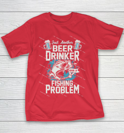 Beer Lover Funny Shirt Fishing ANd Beer Youth T-Shirt 7