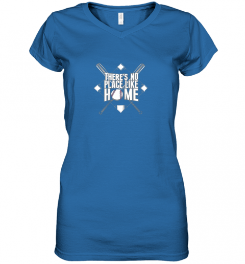 mjtu there39 s no place like home baseball tshirt mom dad youth women v neck t shirt 39 front royal
