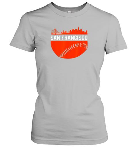 oplv san francisco baseball vintage sf the city skyline gift ladies t shirt 20 front sport grey