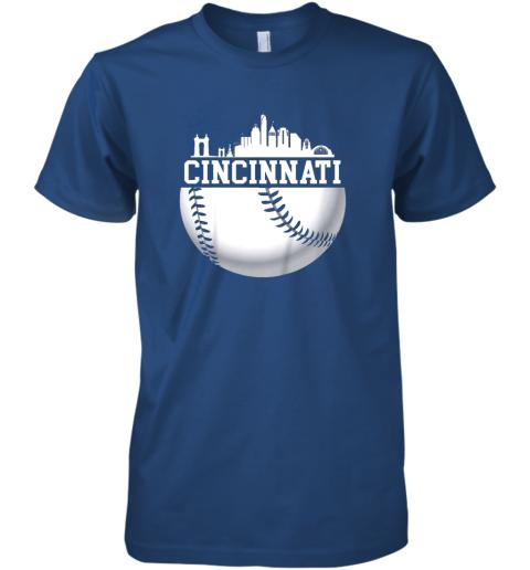 ve5y vintage downtown cincinnati shirt baseball retro ohio state premium guys tee 5 front royal