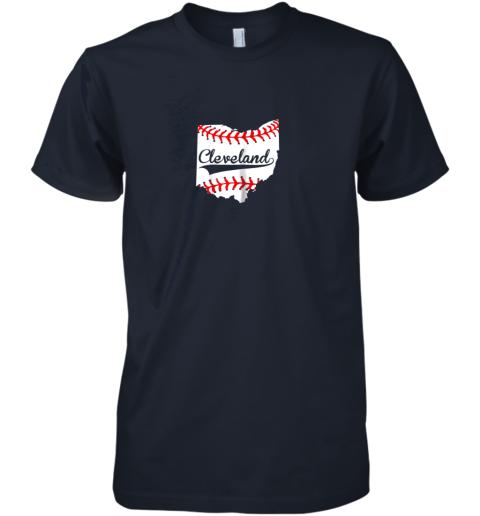 fykr cleveland ohio 216 baseball premium guys tee 5 front midnight navy