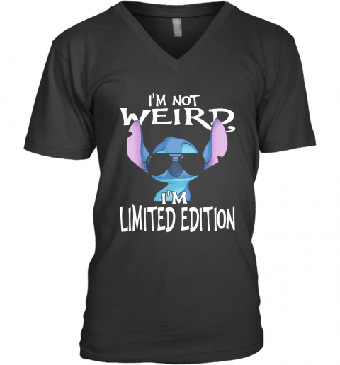 Stitch I'M Not Weird I'M Limited Edition V-Neck T-Shirt