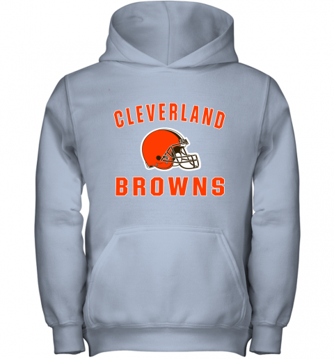 r6zh cleveland browns nfl line by fanatics branded brown victory youth hoodie 43 front light pink