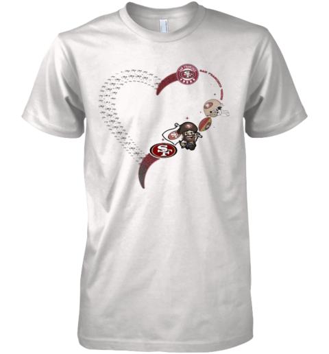 Love San Francisco 49Ers Football Heart Diamond Premium Men's T-Shirt