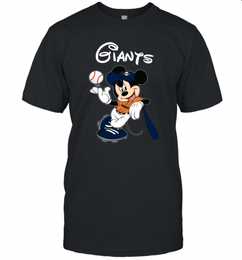 Baseball Mickey Team San Francisco Giants Unisex Jersey Tee