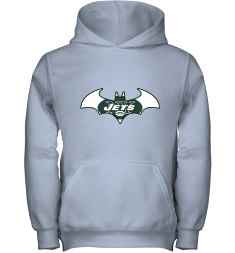 9ugy we are the new york jets batman nfl mashup youth hoodie 43 front light pink