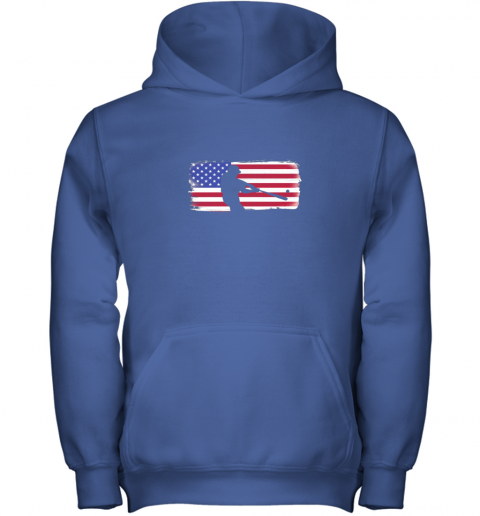 s6qo usa american flag baseball player perfect gift youth hoodie 43 front royal