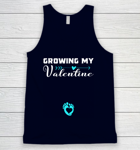 Cute Growing my Valentine Gift for Women pregnancy Tank Top 2