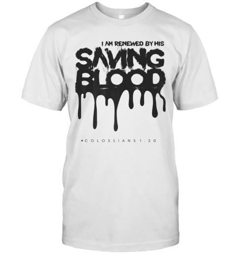 Unique Casual Cotton Saving Blood Christian Cute Top T-Shirt