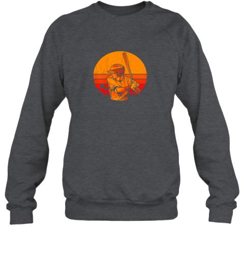 41fp vintage baseball shirt retro catcher pitcher batter boys sweatshirt 35 front dark heather