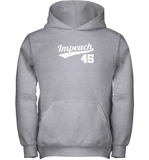a9ma impeach donald trump 45 baseball logo youth hoodie 43 front sport grey