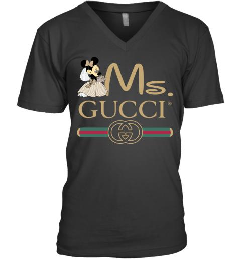 Gucci Disney Ms Minnie Couple Valentine's Day Gift Mens V-Neck T-Shirt