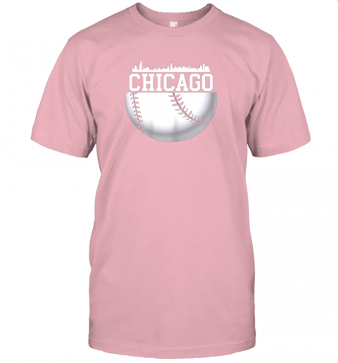 vluh vintage downtown chicago shirt baseball retro illinois state jersey t shirt 60 front pink