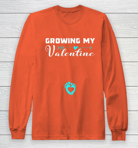 Cute Growing my Valentine Gift for Women pregnancy Long Sleeve T-Shirt 3