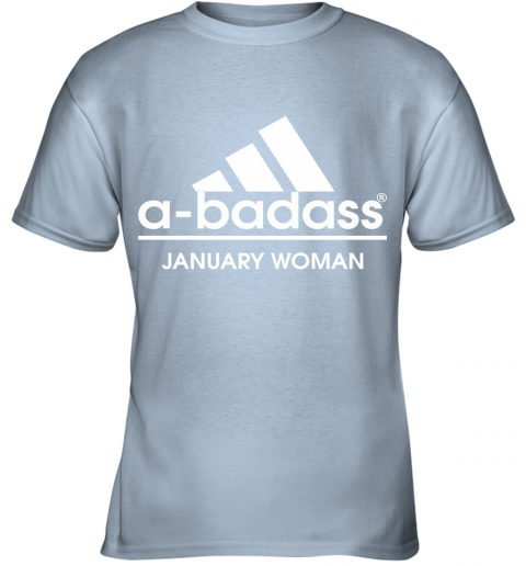 A Badass January Woman Are Born In March Youth T-Shirt