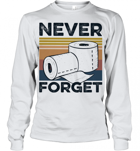 Never Forget Toilet Paper Vintage Youth Long Sleeve