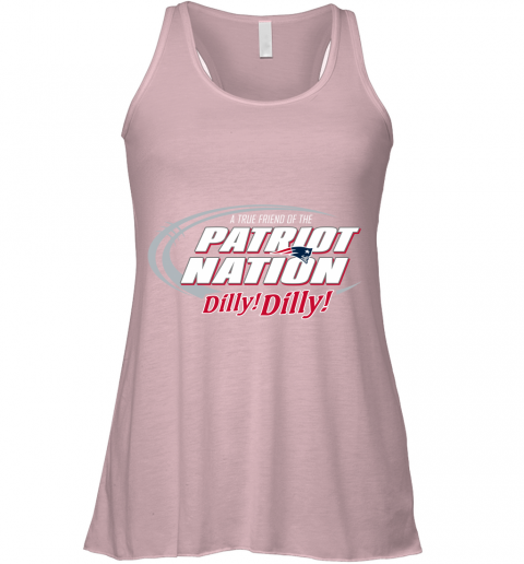 nnqr a true friend of the new england patriots dilly dilly flowy tank 32 front soft pink