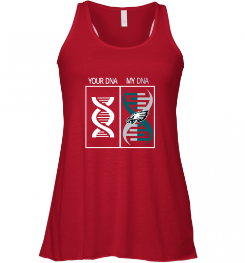 0rwm my dna is the philadelphia eagles football nfl flowy tank 32 front red