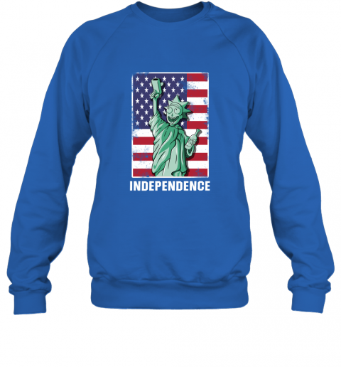 rnpr rick and morty statue of liberty independence day 4th of july shirts sweatshirt 35 front royal