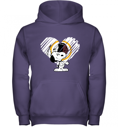 fbry i love snoopy washington redskins in my heart nfl youth hoodie 43 front purple