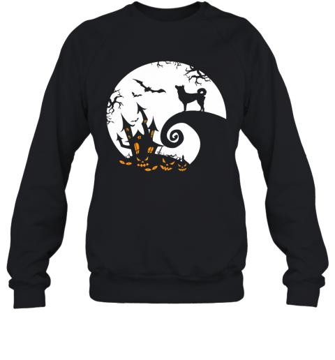 Funny Korean Jindo Dog And Moon Halloween Costume Sweatshirt