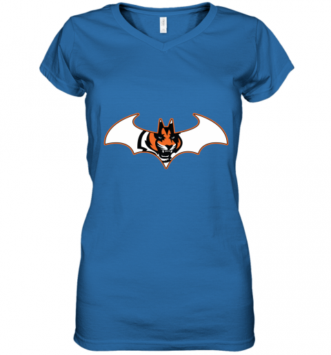 wop9 we are the cincinnati bengals batman nfl mashup women v neck t shirt 39 front royal