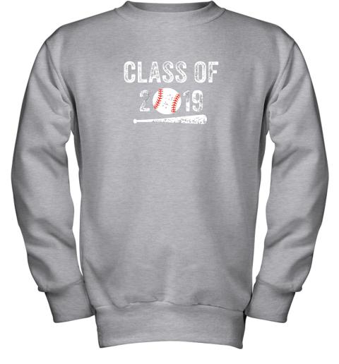 3ovu class of 2019 vintage shirt graduation baseball gift senior youth sweatshirt 47 front sport grey