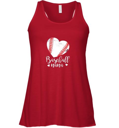 yh2u funny baseball nana shirt gift for men women flowy tank 32 front red