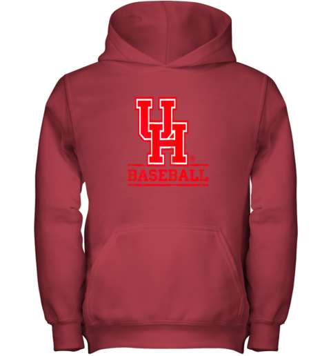 23lf university of houston cougars baseball shirt youth hoodie 43 front red