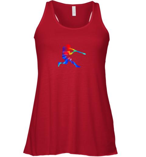 ytou tie dye baseball batter shirt retro player coach boys gifts flowy tank 32 front red