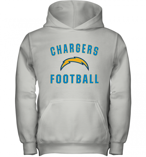 Los Angeles Chargers NFL Pro Line by Fanatics Branded Gray Victory Youth Hoodie