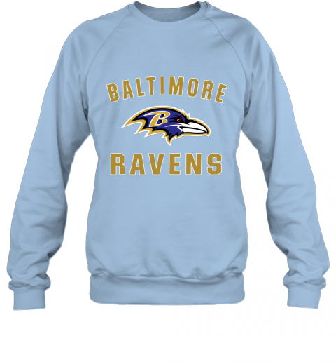 403m mens baltimore ravens nfl pro line by fanatics branded gray victory arch t shirt sweatshirt 35 front light blue