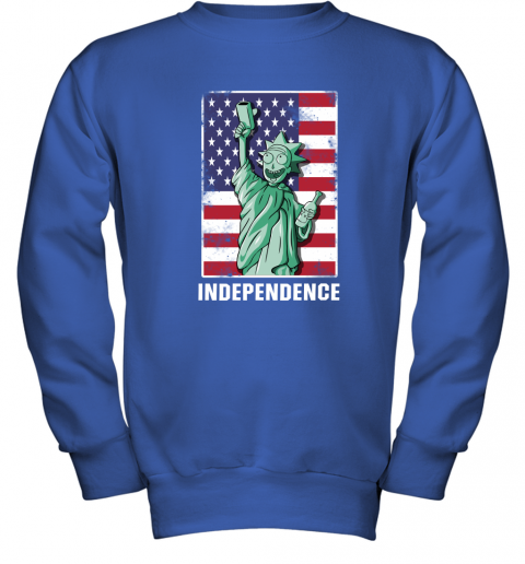 2kuq rick and morty statue of liberty independence day 4th of july shirts youth sweatshirt 47 front royal