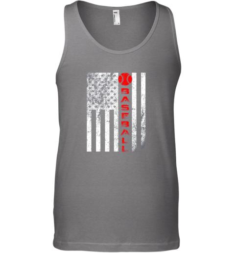sytt usa red whitevintage american flag baseball gift unisex tank 17 front graphite heather