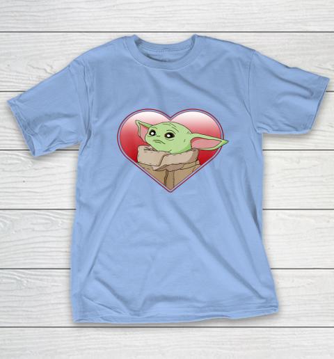 Star Wars The Mandalorian The Child Valentine Heart Portrait T-Shirt 10