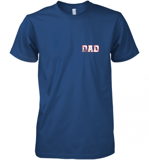 bkx2 mens baseball inspired dad fathers day distressed premium guys tee 5 front royal