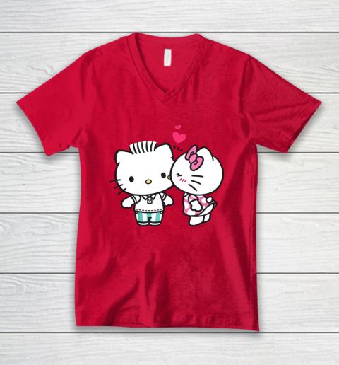 Hello Kitty and Dear Daniel Valentine Tee V-Neck T-Shirt 6