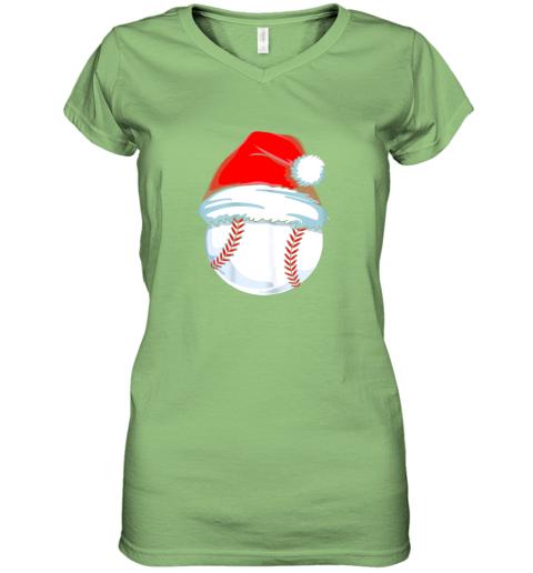 olng christmas baseball shirt for kids men ball santa pajama women v neck t shirt 39 front lime