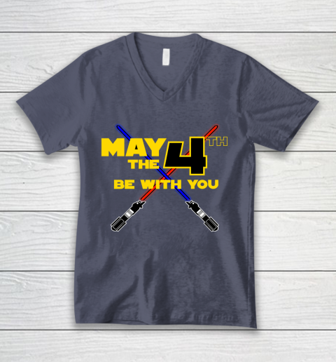 Star Wars Shirt May the Fourth Be With You Lightsaber V-Neck T-Shirt 7