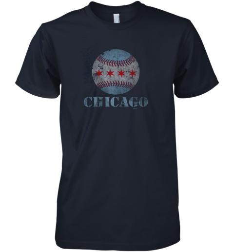8ner vintage chicago baseball flag premium guys tee 5 front midnight navy