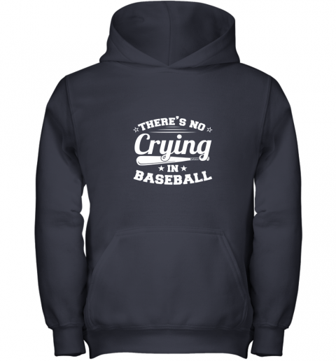 0g44 there39 s no crying in baseball gift youth hoodie 43 front navy