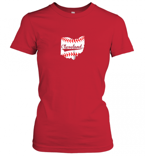 d4yr cleveland ohio 216 baseball ladies t shirt 20 front red