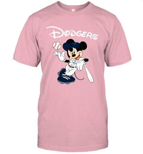 Baseball Mickey Team Los Angeles Dodgers Unisex Jersey Tee