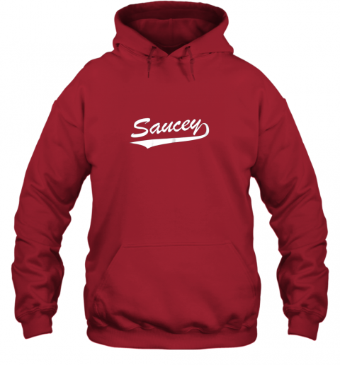 rkzq saucey swag baseball hoodie 23 front red