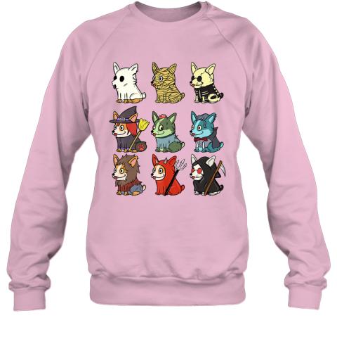 Corgi Scary Costumes Funny Dog Halloween Gift Premium Sweatshirt